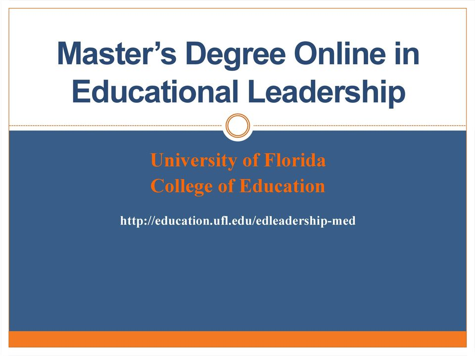 of Florida College of Education