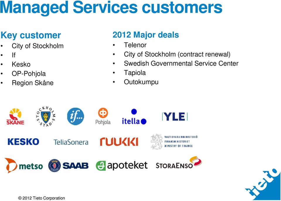 Major deals Telenor City of Stockholm (contract