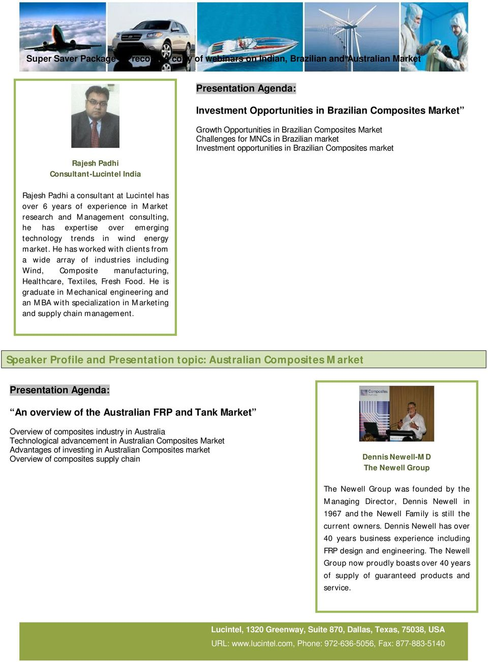 Opportunities and Competitiveness of Indian, Brazilian