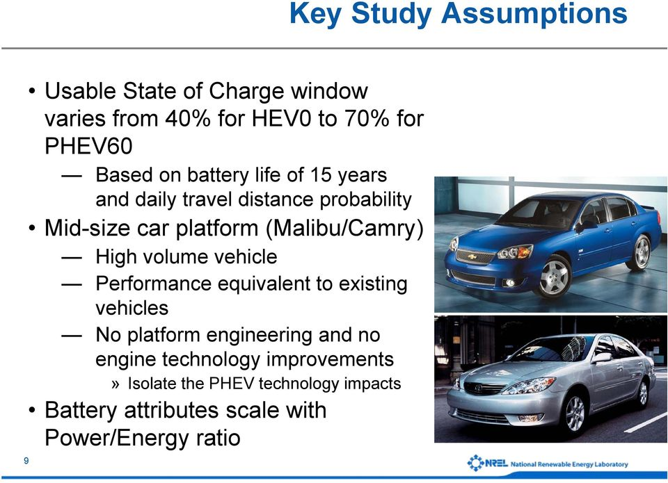 volume vehicle Performance equivalent to existing vehicles No platform engineering and no engine
