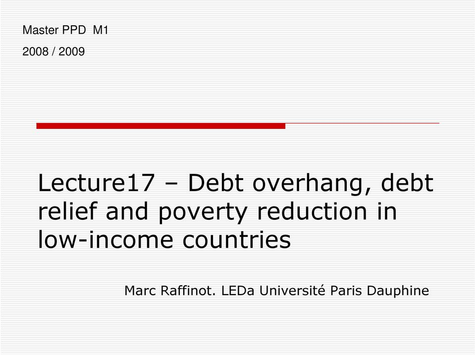 reduction in low-income countries Marc