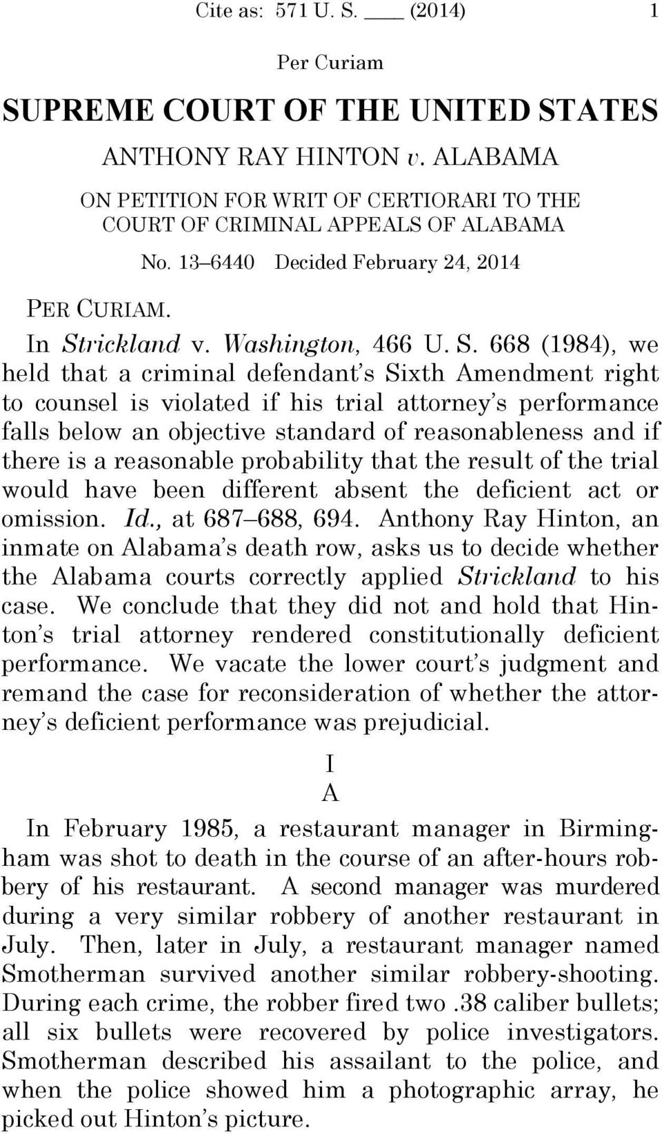 rickland v. Washington, 466 U. S.