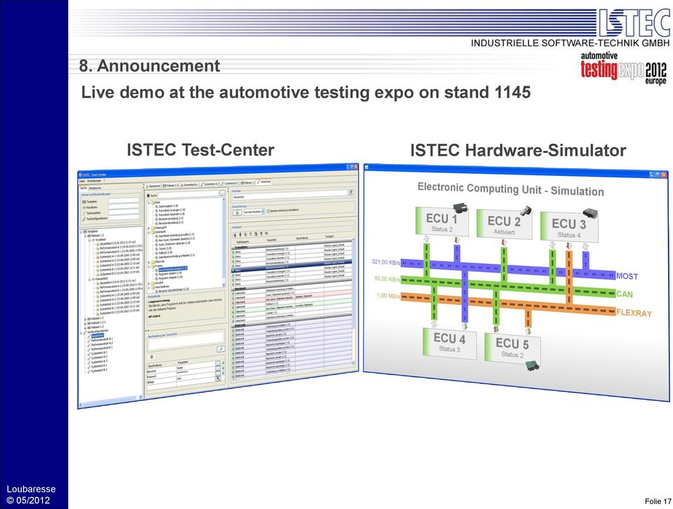 stand 1145 ISTEC Test-Center