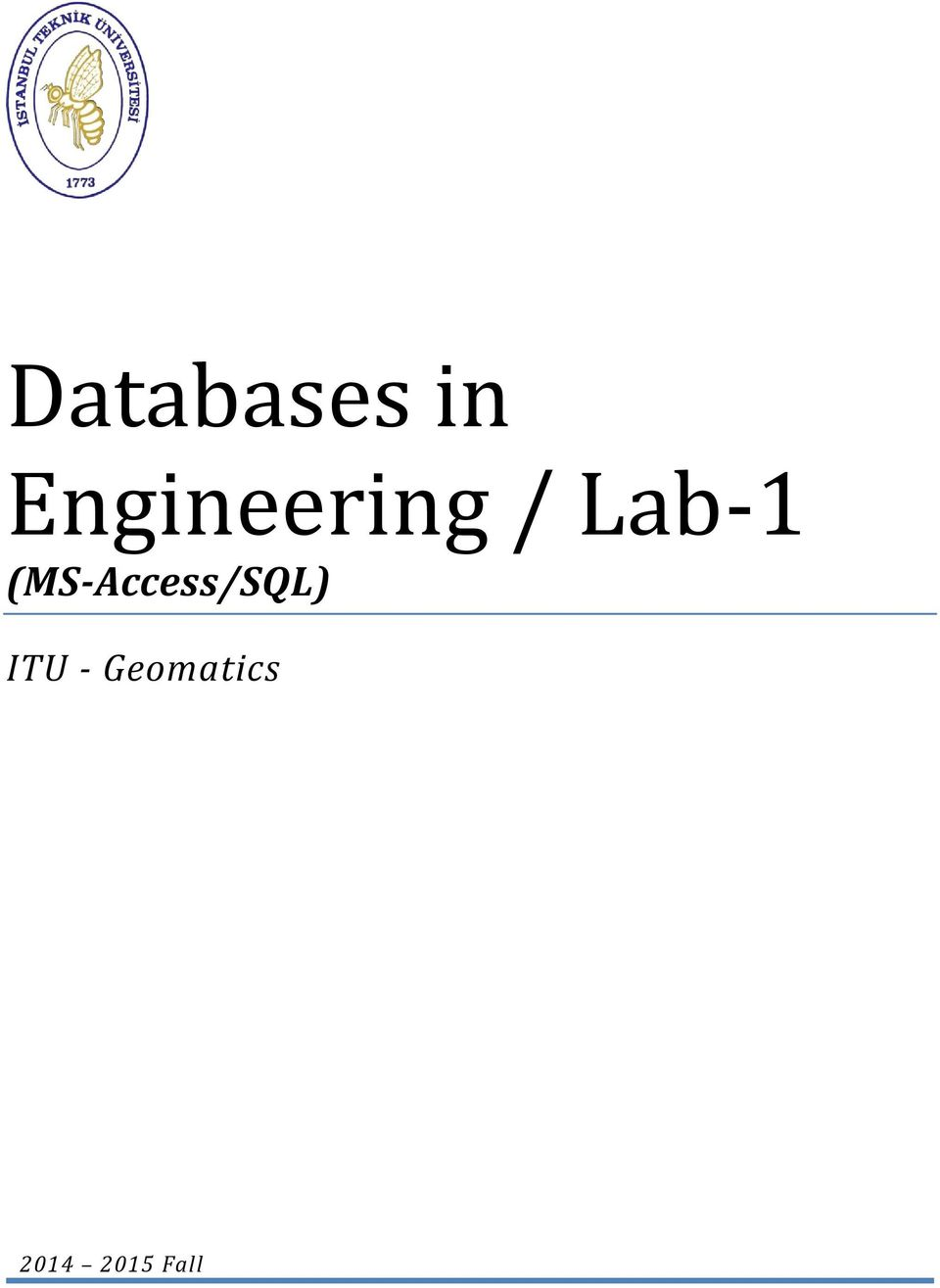 (MS-Access/SQL) ITU -