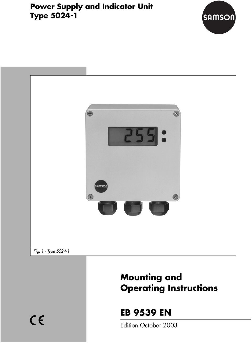 1 Type 5024-1 Mounting and