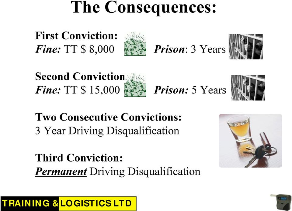 Prison: 5 Years Two Consecutive Convictions: 3 Year