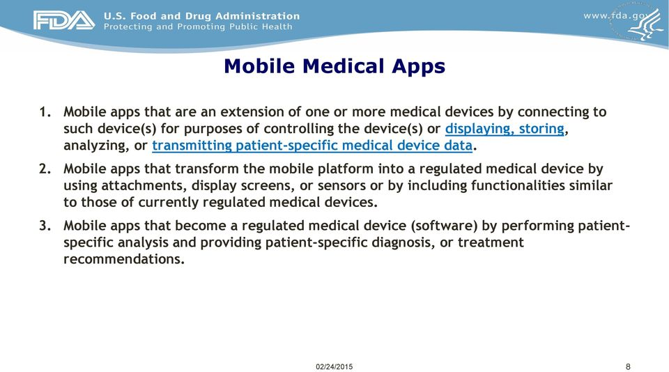 analyzing, or transmitting patient-specific medical device data. 2.