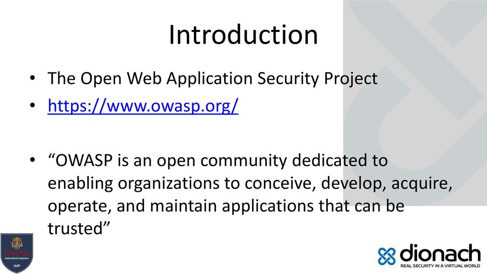 org/ OWASP is an open community dedicated to enabling