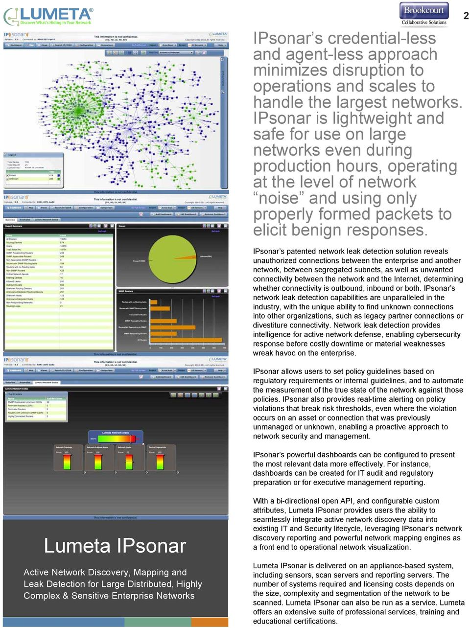 IPsonar s patented network leak detection solution reveals unauthorized connections between the enterprise and another network, between segregated subnets, as well as unwanted connectivity between