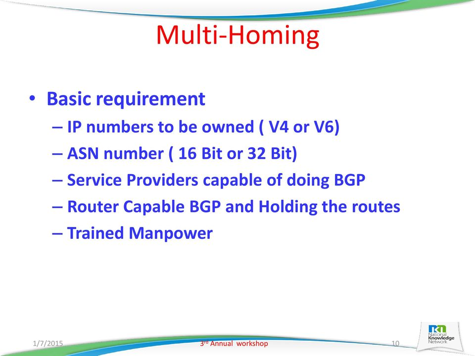 Providers capable of doing BGP Router Capable BGP and