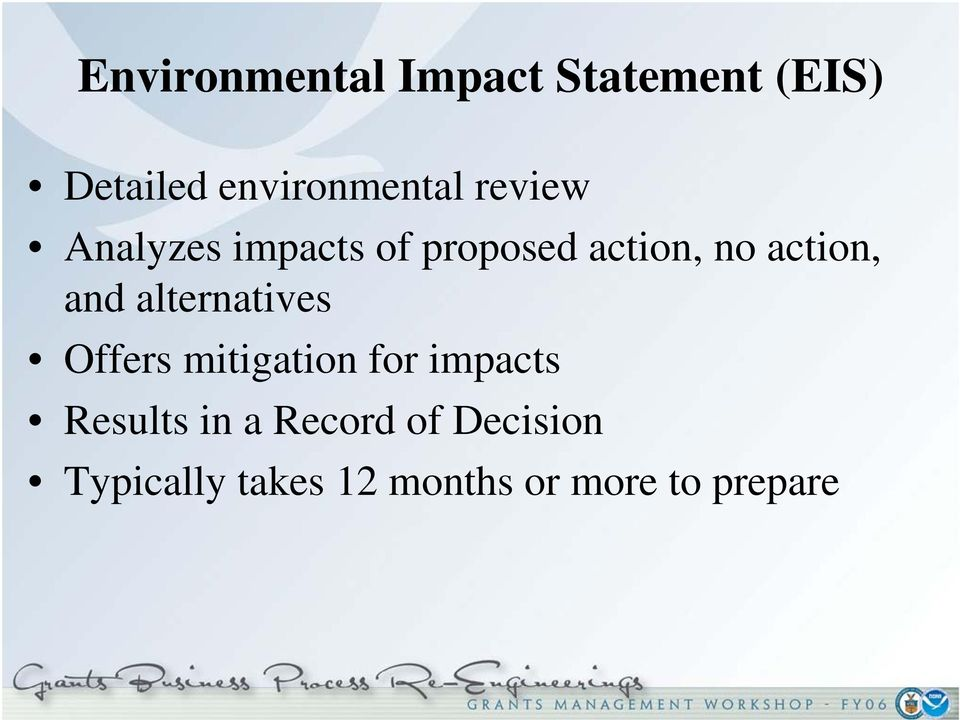 alternatives Offers mitigation for impacts Results in a