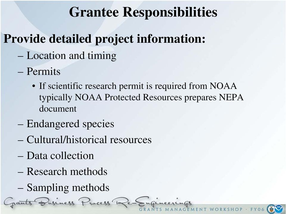 typically NOAA Protected Resources prepares NEPA document Endangered