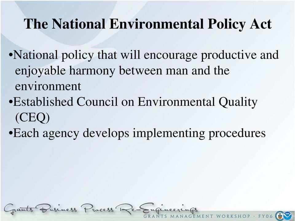 man and the environment Established Council on