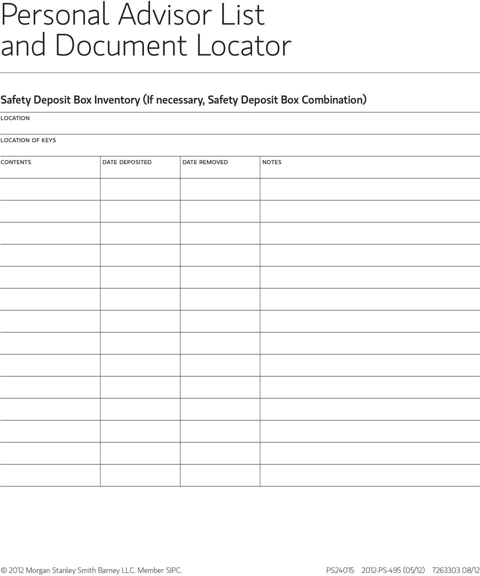 location of keys contents date deposited date removed notes 2012