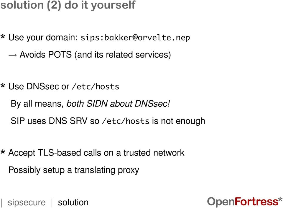 both SIDN about DNSsec!