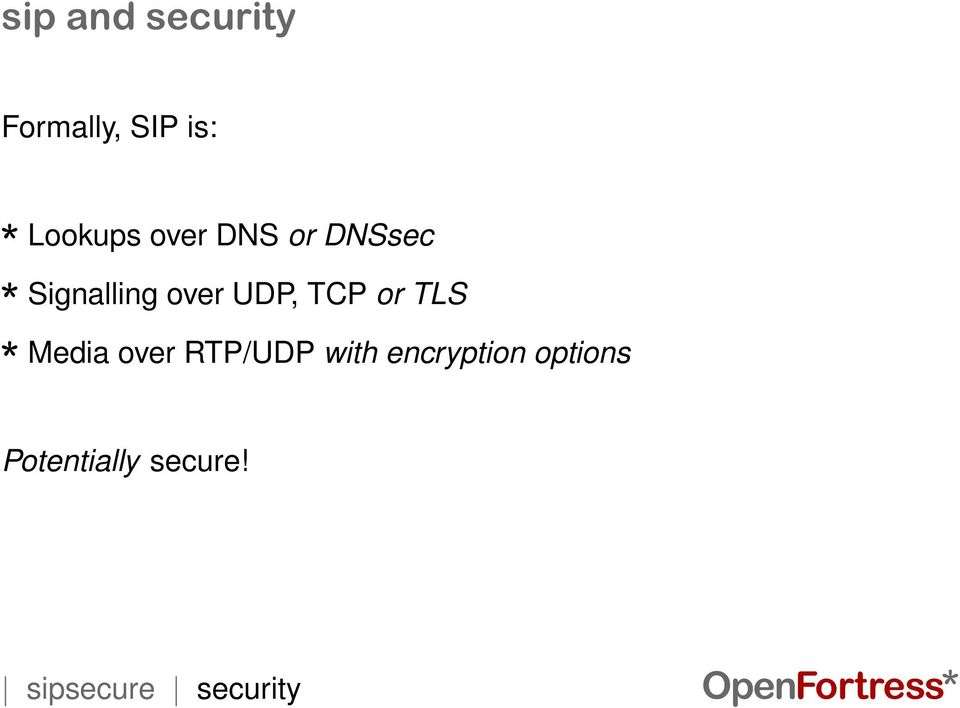 TLS Media over RTP/UDP with encryption options