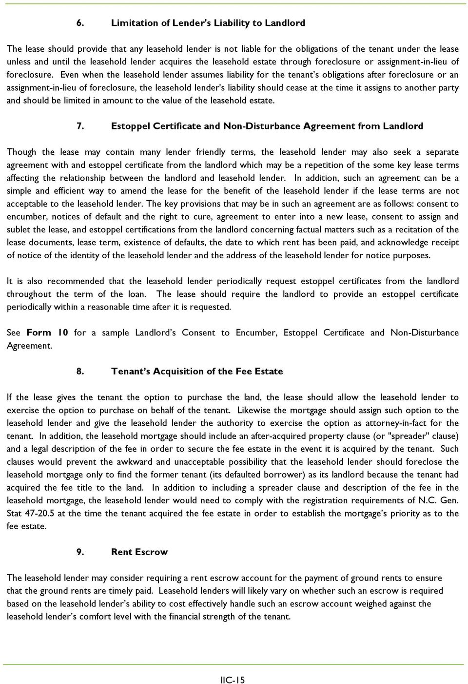 Lender S Perspective On Financing A Ground Lease Pdf