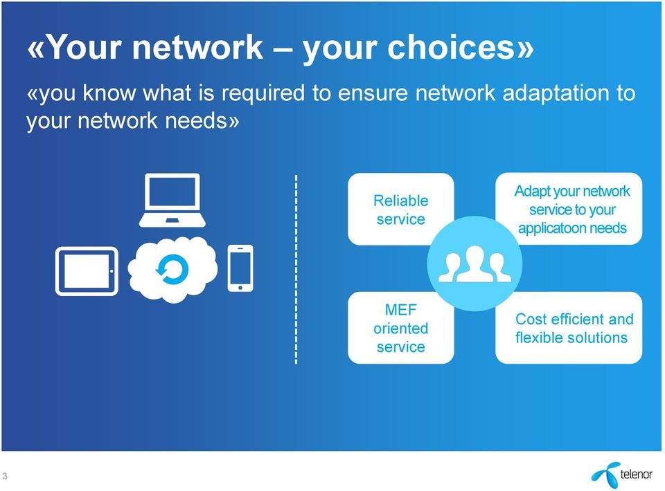 service Adapt your network service to your applicatoon