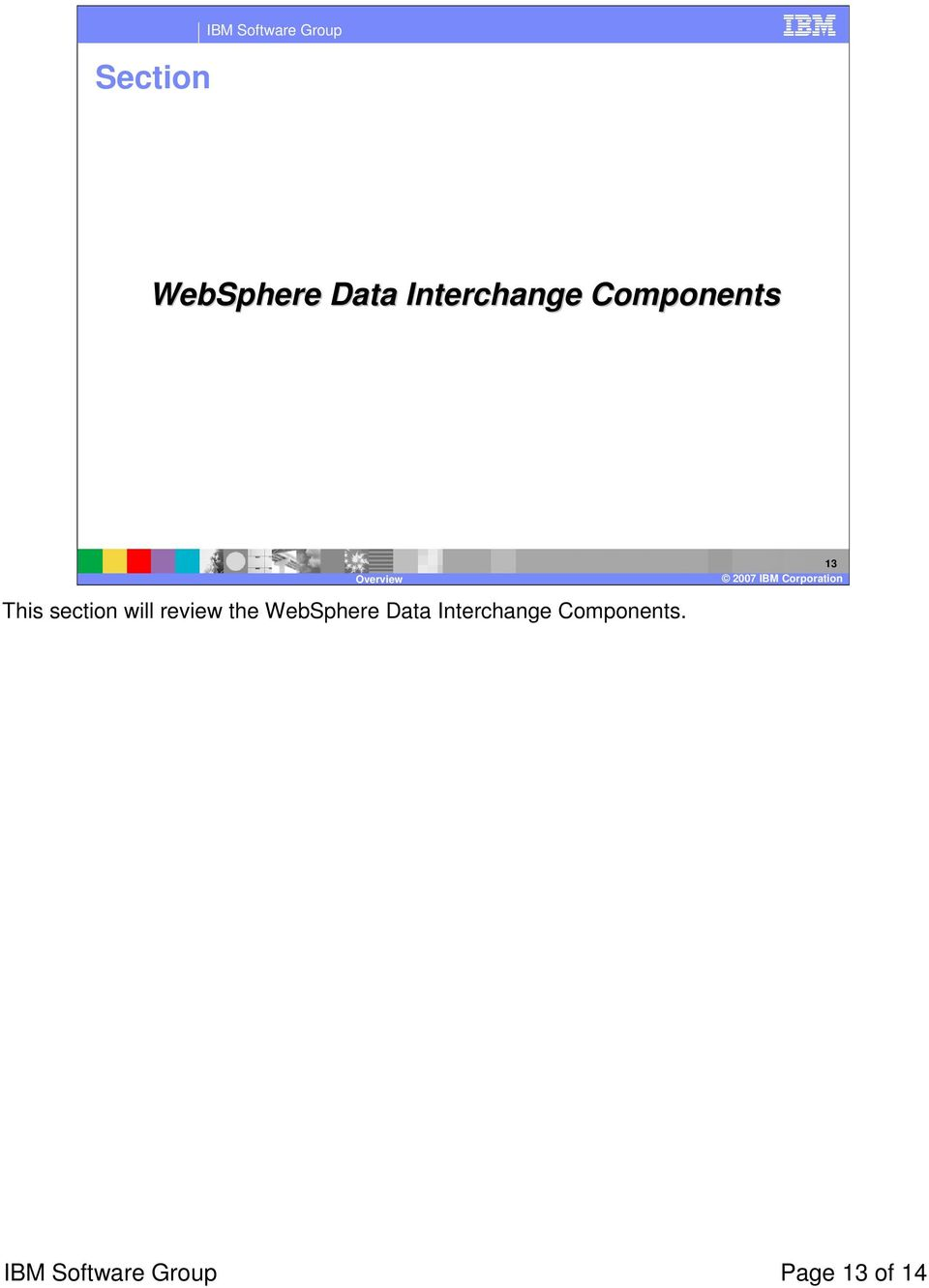 review the WebSphere Data Interchange