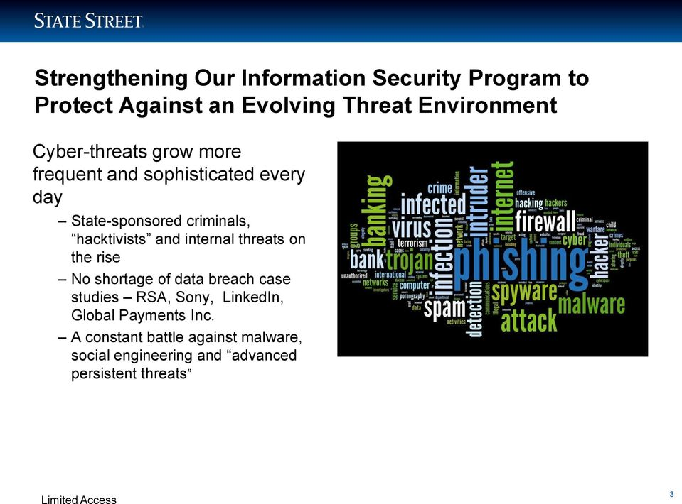 and internal threats on the rise No shortage of data breach case studies RSA, Sony, LinkedIn,