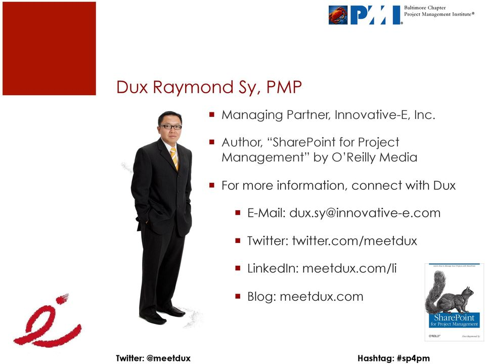 more information, connect with Dux E-Mail: dux.sy@innovative-e.