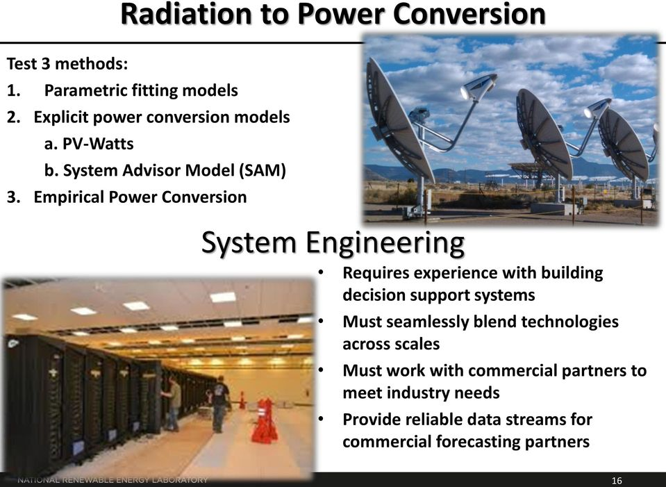Empirical Power Conversion System Engineering Requires experience with building decision support systems