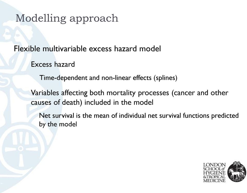 mortality processes (cancer and other causes of death) included in the model
