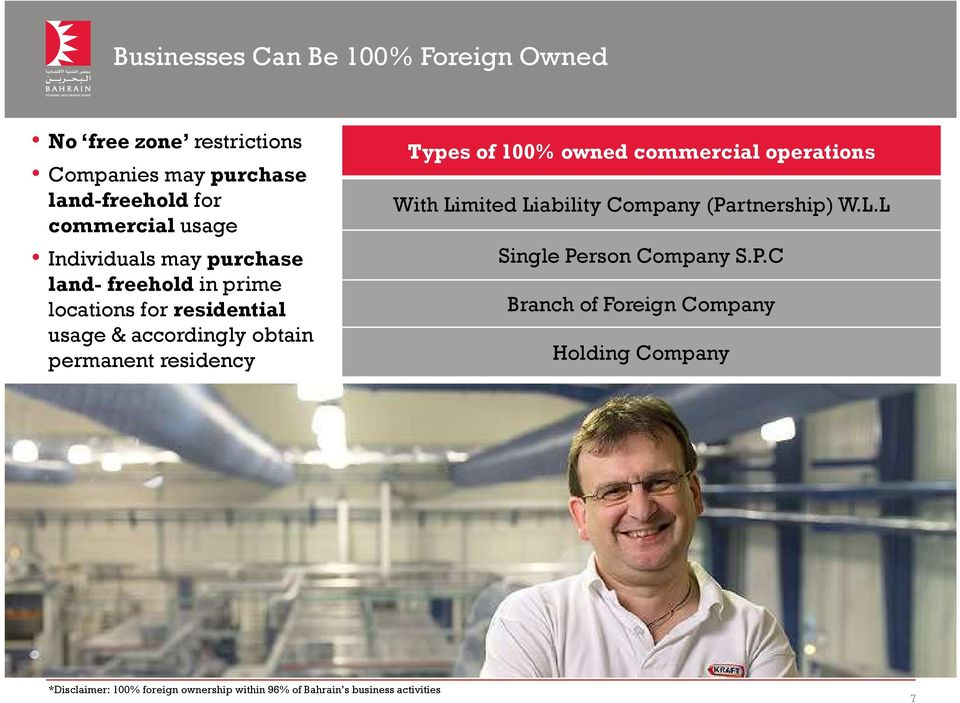 Types of 100% owned commercial operations With Limited Liability Company (Pa