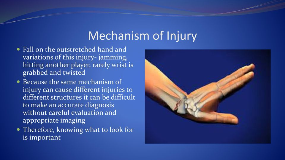 injuries to different structures it can be difficult to make an accurate diagnosis without