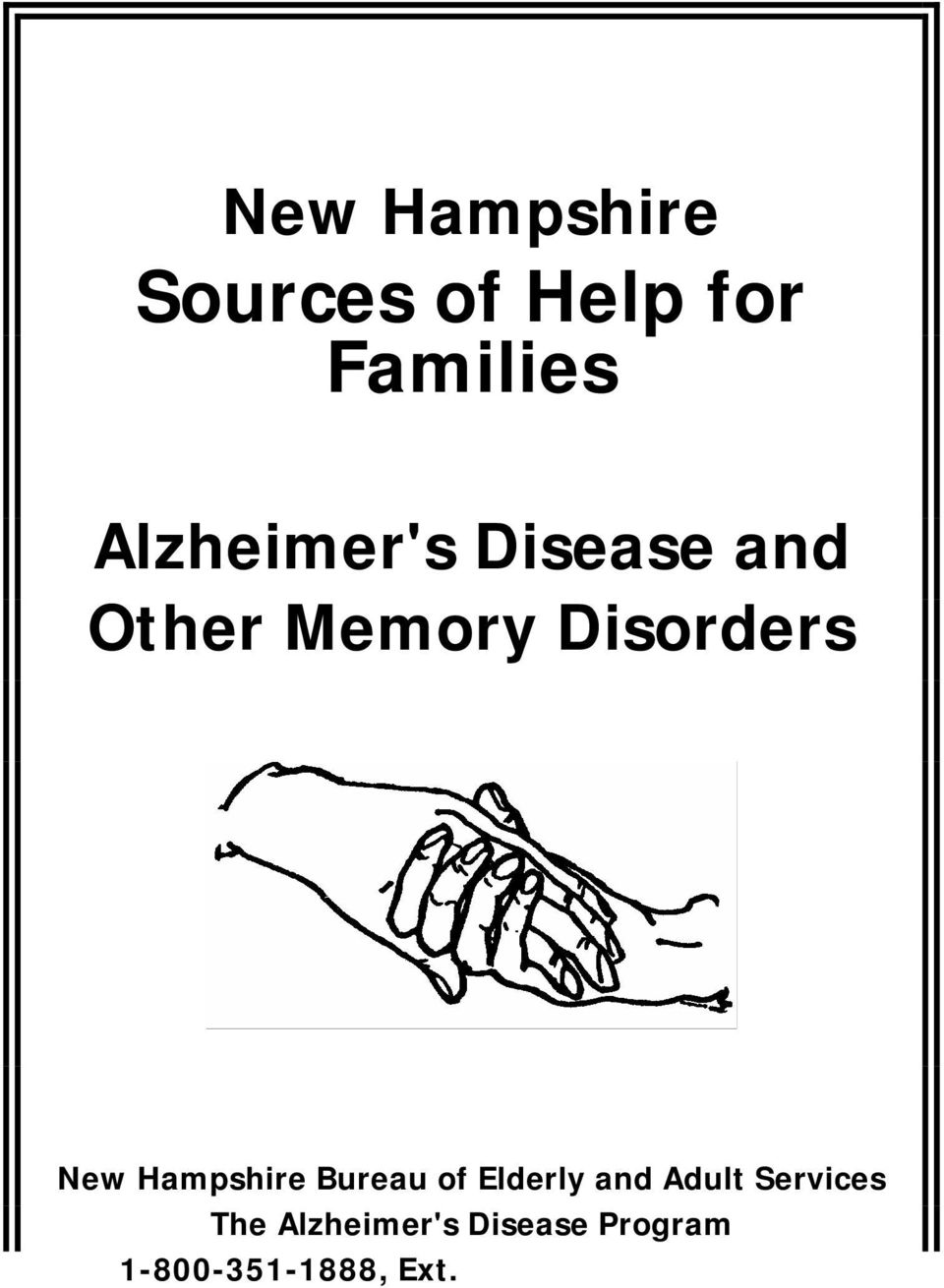 Elderly and Adult Services The Alzheimer's Disease Program