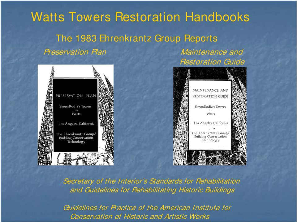 Rehabilitation and Guidelines for Rehabilitating Historic Buildings Guidelines for