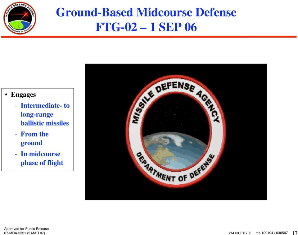 long-range ballistic missiles - From the