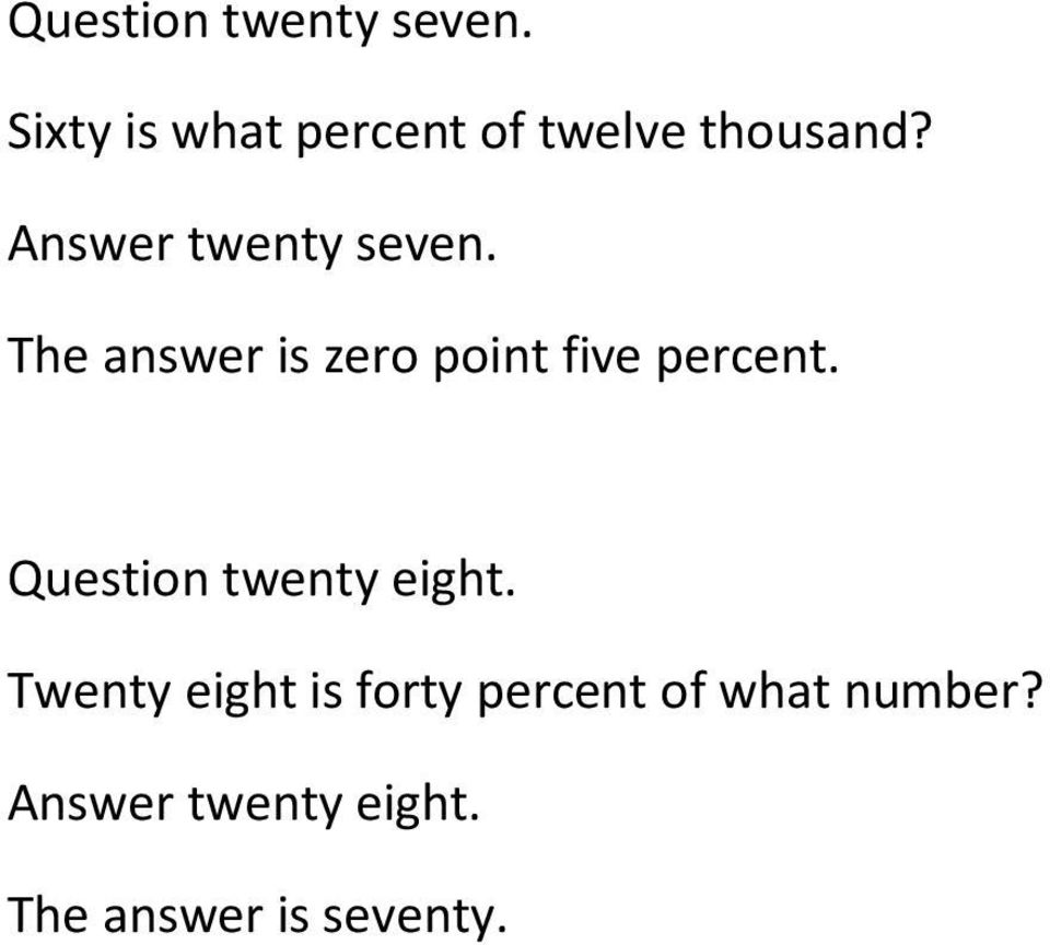 Answer twenty seven. The answer is zero point five percent.