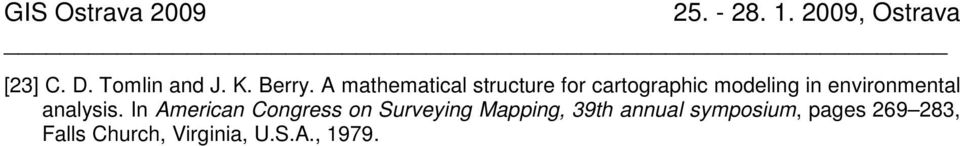A mathematical structure for cartographic modeling in environmental