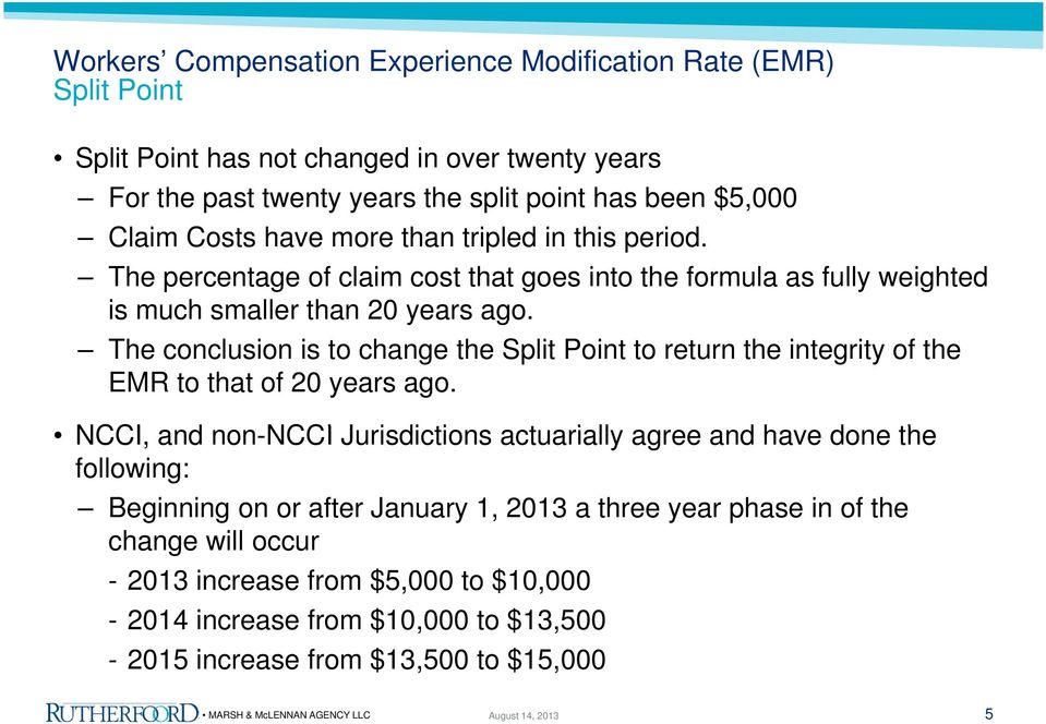 The conclusion is to change the Split Point to return the integrity of the EMR to that of 20 years ago.
