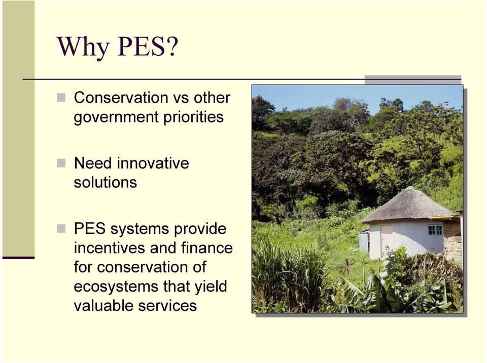 Need innovative solutions PES systems provide