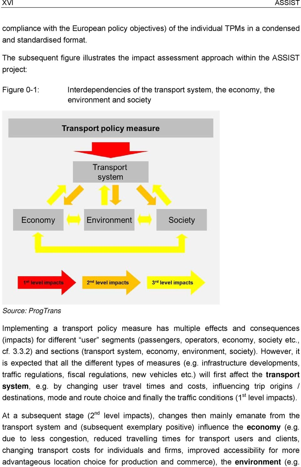 policy measure has multiple effects and consequences () for different user segments (passengers, operators, economy, society etc., cf. 3.3.2) and sections ( system, economy, environment, society).