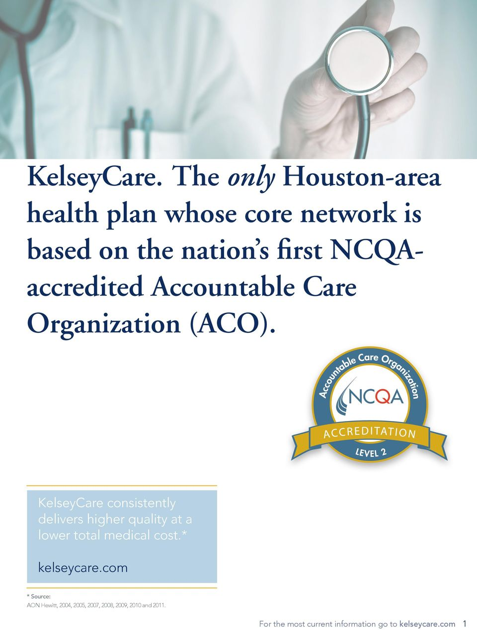 NCQAaccredited Accountable Care Organization (ACO).