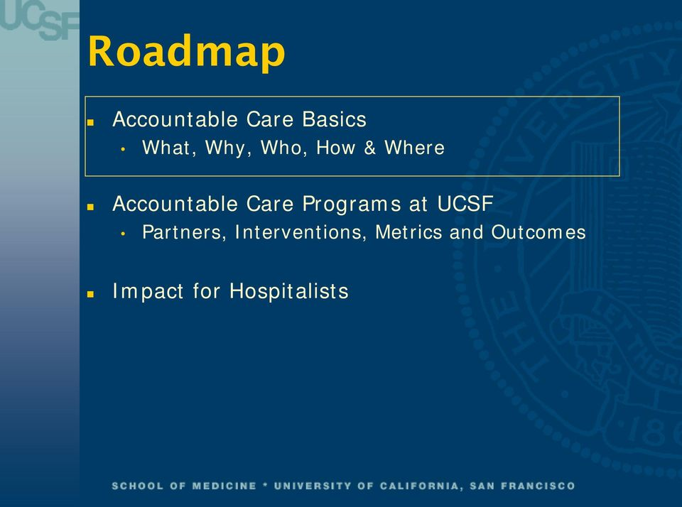Programs at UCSF Partners,