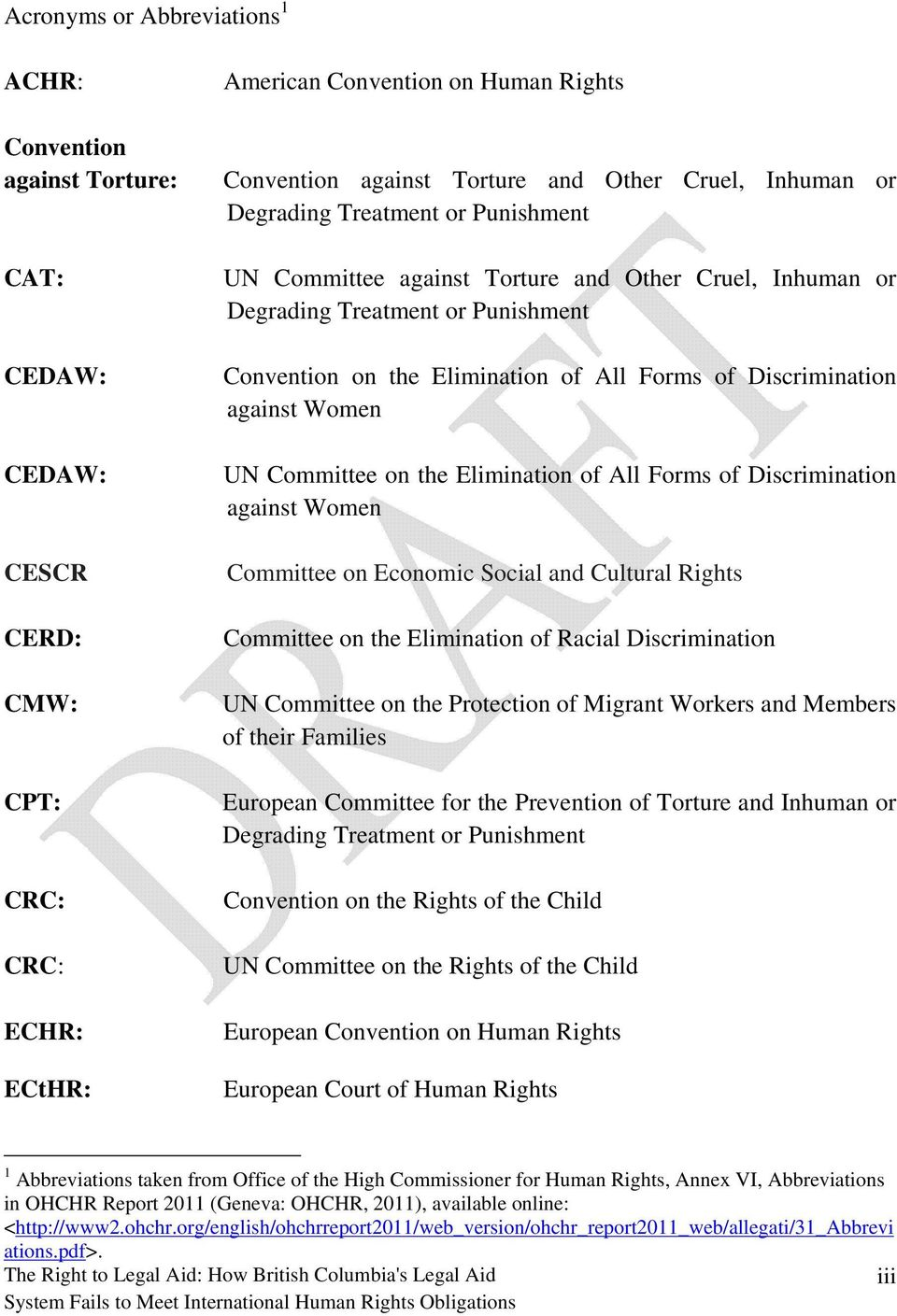 Discrimination against Women UN Committee on the Elimination of All Forms of Discrimination against Women Committee on Economic Social and Cultural Rights Committee on the Elimination of Racial