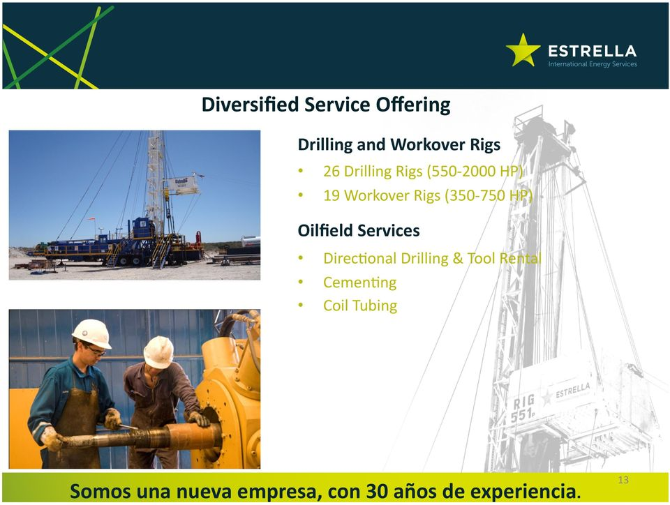 Workover Rigs (350-750 HP) Oilfield Services