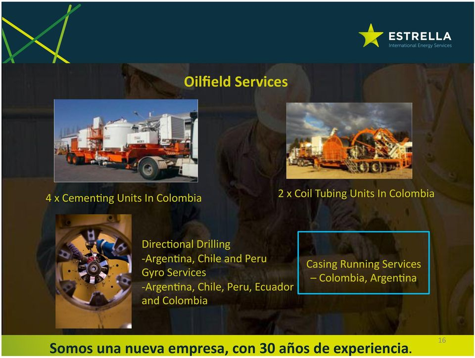 Chile and Peru Gyro Services - Argen8na, Chile, Peru,