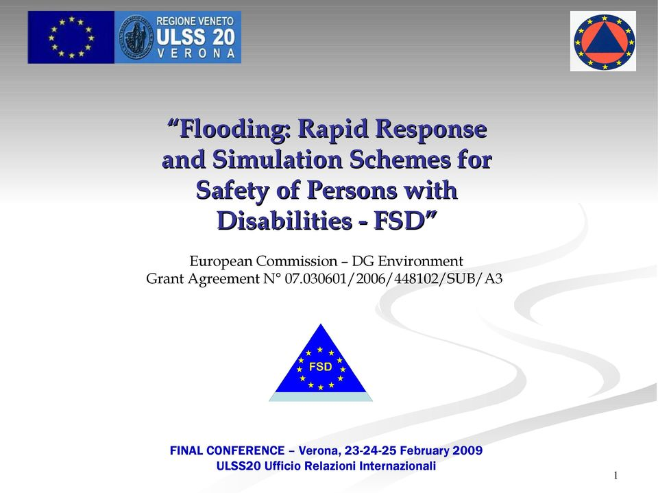 Disabilities - FSD European Commission DG