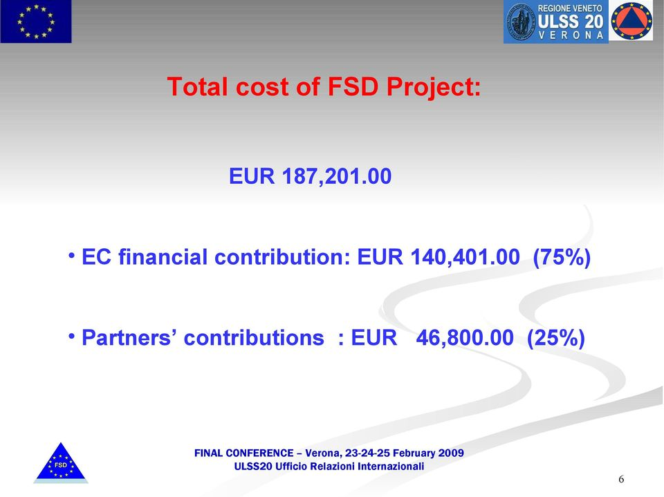 00 EC financial contribution: EUR