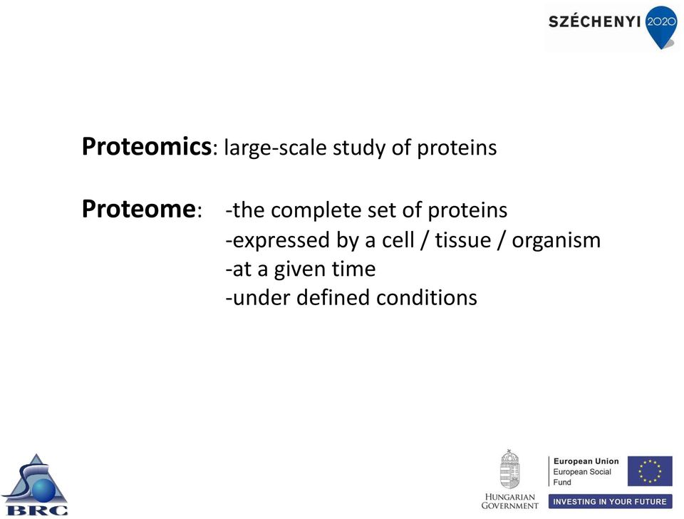 proteins expressed by a cell / tissue /