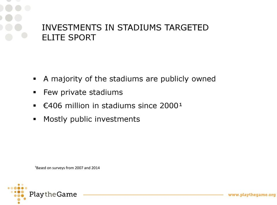 private stadiums 406 million in stadiums since 2000¹