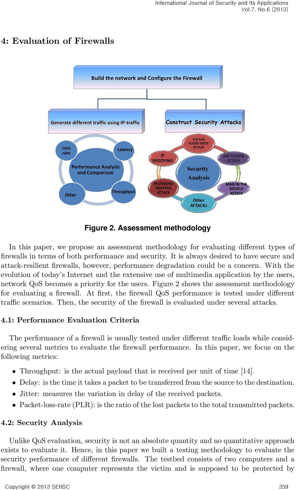 Assessment methodology In this paper, we propose an assessment methodology for evaluating different types of firewalls in terms of both performance and security.