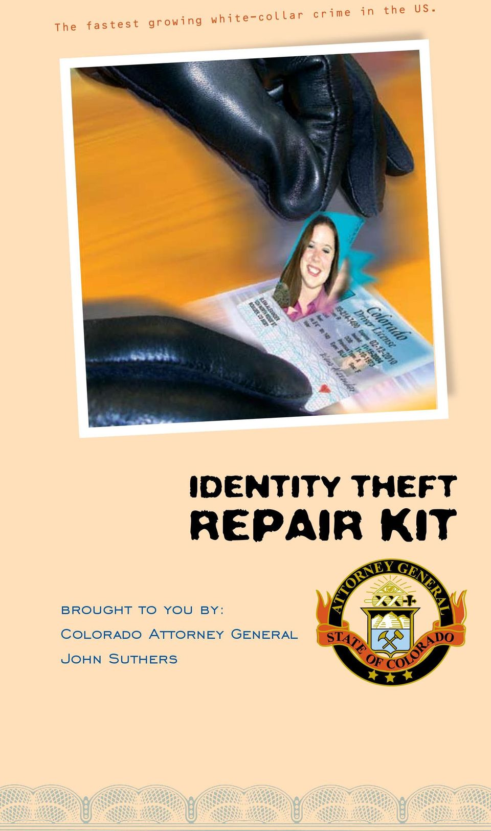 Identity theft REPAIR KIT brought