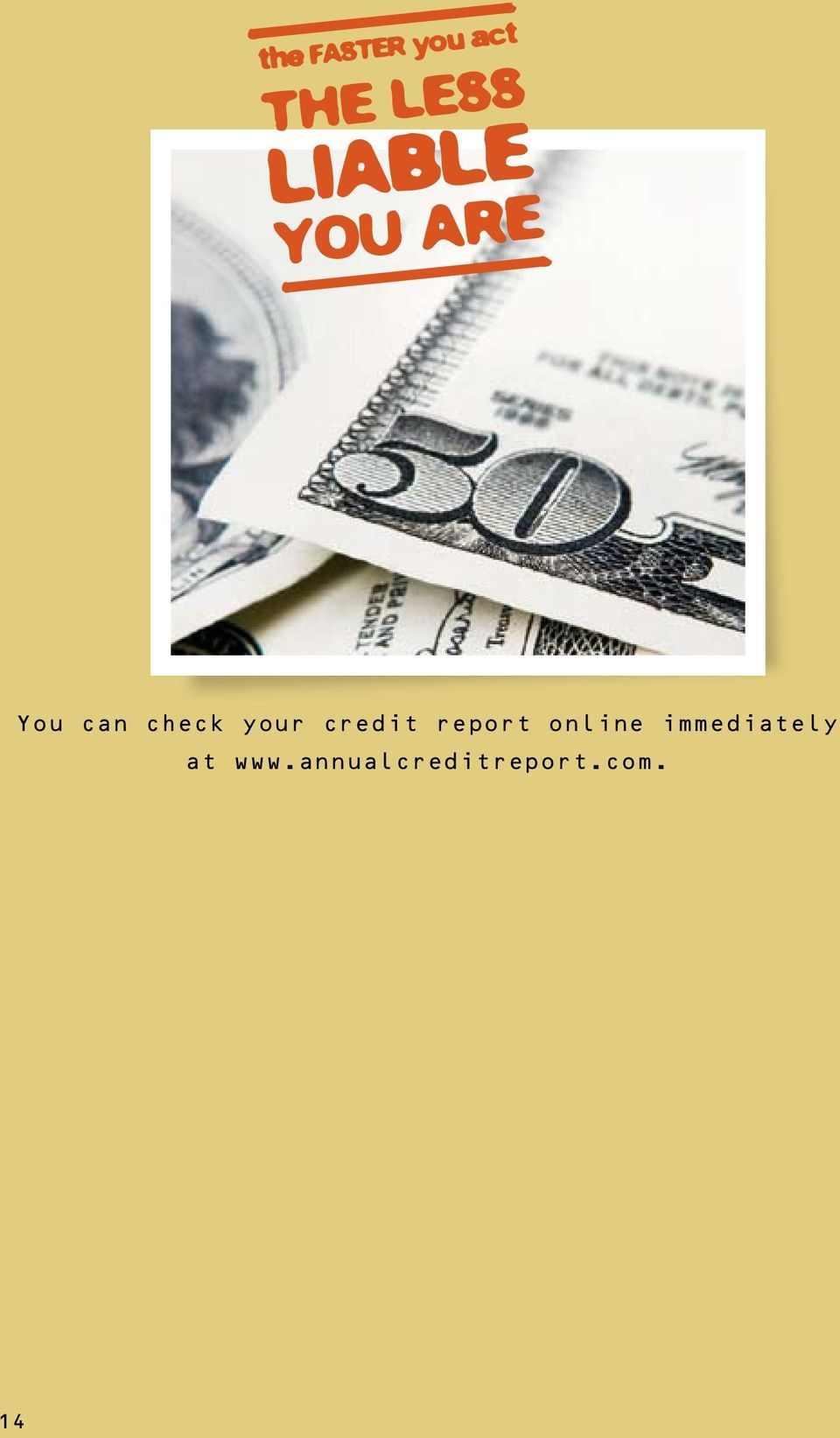 your credit report online
