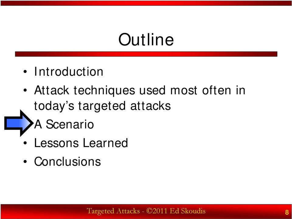 targeted attacks A Scenario Lessons